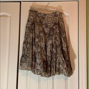 Brown floral skirt